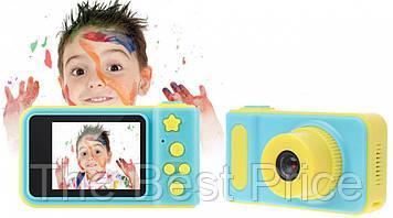 Детский цифровой фотоаппарат Smart Kids Camera T1 Синий с желтым