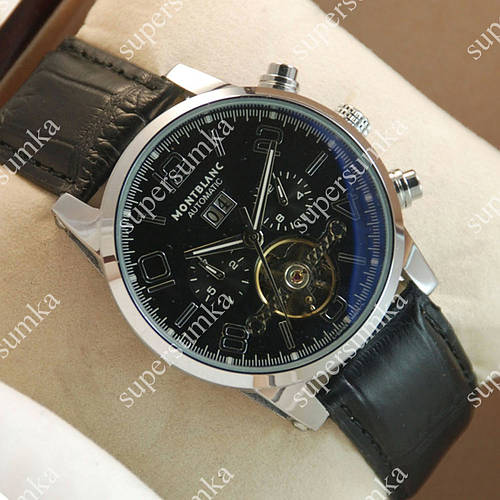 Механические наручные часы Montblanc Time Walker Silver/Black 1701
