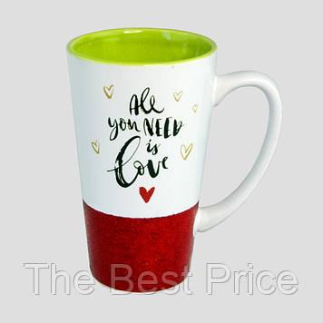 Чашка для латте Любовь (красная)