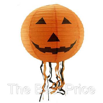 Декор подвесной (40см) оранжевый с тыквой