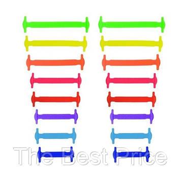 Силиконовые шнурки для обуви 16 шт Разноцветный