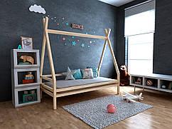 Дитяча Дерев'яне ліжко будиночок-Вігвам Моана плюс 70х140