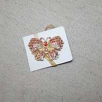 Магнитные подхваты бабочка со стразами 70х50мм