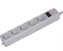 Сетевой фильтр-удлинитель Greelite G185 на 5 розеток 1.8 м White, фото 3