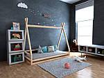 Дитяча Дерев'яне ліжко будиночок-Вігвам Моана 70х140, фото 3