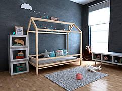 Дитяча Дерев'яне ліжко будиночок Кітті 70х140