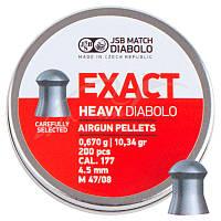 Пули пневм JSB Diabolo Exact Heavy. Кал. 4.52 мм. 0.67 г. 200 шт