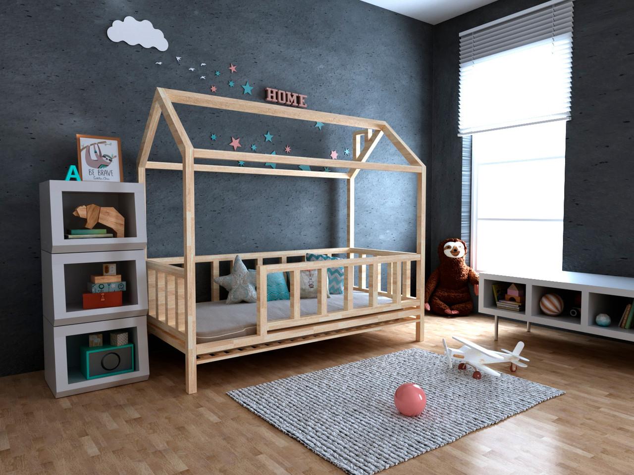 Дитяче Дерев'яне ліжко будиночок Тедді 70х140 см ТМ MegaOpt