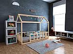 Дитяче Дерев'яне ліжко будиночок Тедді плюс 70х140 см ТМ MegaOpt, фото 3