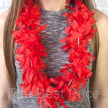Гавайские леи Гибискус (красные)