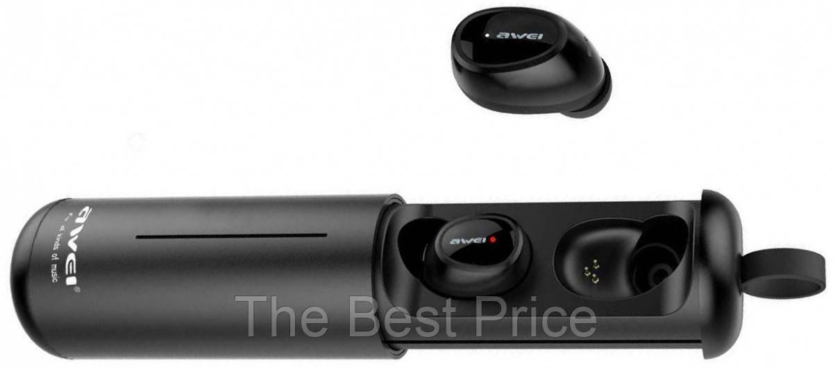 Bluetooth наушники Awei T5 с зарядным боксом Black