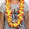 Гавайские леи Гибискус (желтый с оранжевым), фото 2