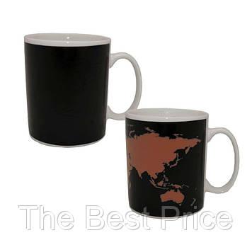 Чашка хамелеон Карта мира (товар с дефектом)