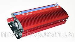 Инвертор преобразователь напряжения 2000W 24V в 220V с вольтметром для грузовиков фур