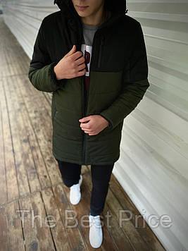 Демісезонна Куртка Fusion бренду Intruder (хакі - чорна)