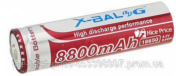 Аккумулятор X-Balog Li-ion 4.2V 18650 8800 mah (Purple)