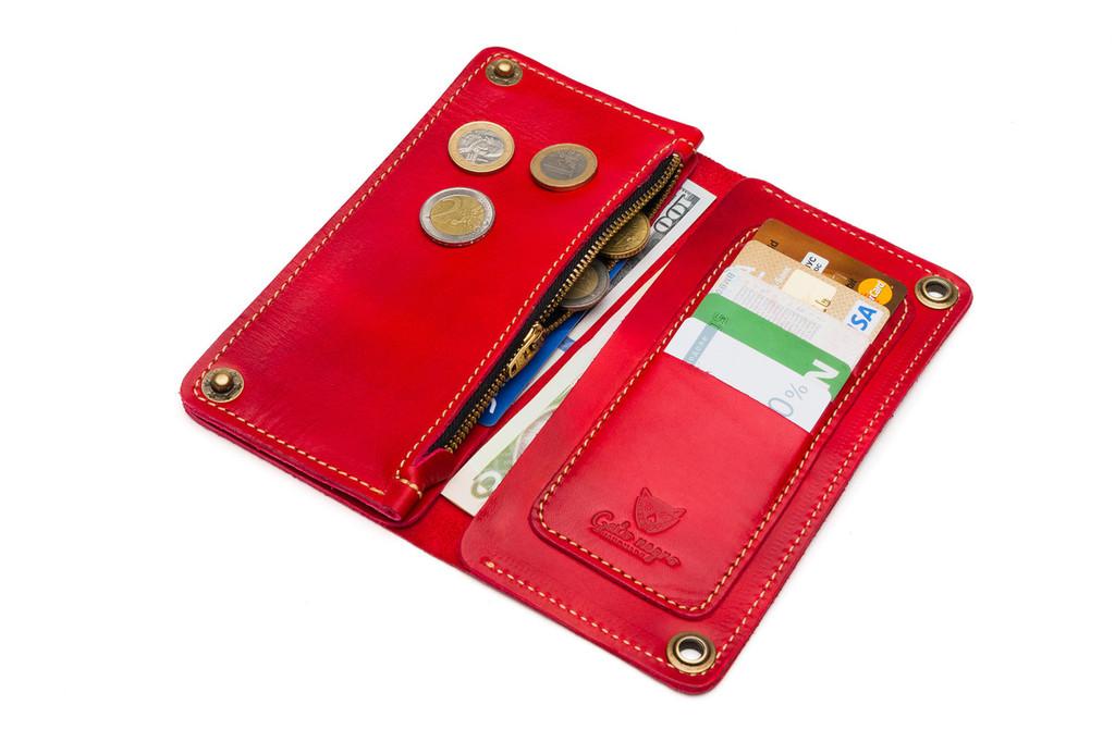 Кожаный кошелек ручной работы 6