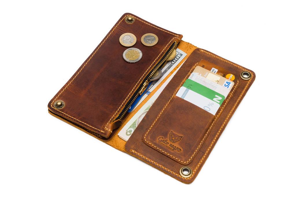 Кожаный кошелек ручной работы 9