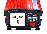 Инвертор преобразователь напряжения 2000W 24V в 220V с вольтметром, фото 3
