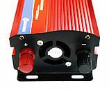 Инвертор преобразователь напряжения 2000W 24V в 220V с вольтметром, фото 4