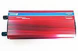 Инвертор преобразователь напряжения 2000W 24V в 220V с вольтметром, фото 2