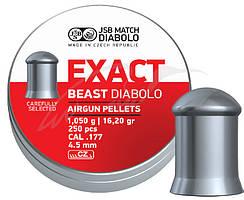 Кулі пневматичні JSB Diabolo Exact Beast. Кал. 4.52 мм. Вага - 1.05 р. 250 шт/уп