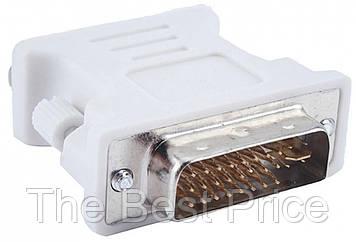 Переходник DVI-I (dual link) Male to VGA Female White