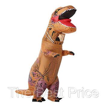 Надувной костюм Тираннозавр (коричневый)
