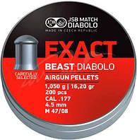 Пуля пневматическая JSB Diabolo Exact Beast. Кал. 4.52 мм. Вес - 1.05 г. 200 шт