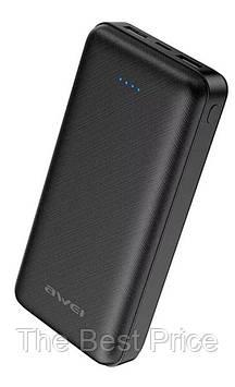Внешний портативный акумулятор Power bank Awei P47K 20000mAh Black