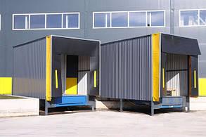 Перегрузочный тамбур с установкой под углом 60° к фасаду склада