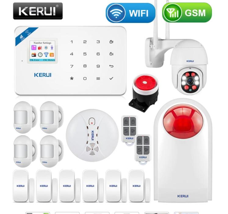Комплект бездротової gsm сигналізації Kerui W18 (комплект 11)