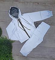 Подростковый стильный костюм светоотражающий для девочкиразмер 9-12 лет,цвет серый