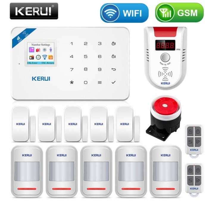 Комплект бездротової gsm сигналізації Kerui W18 (комплект 16)