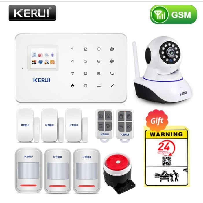 Комплект бездротової gsm сигналізації Kerui G18 (комплект 17)