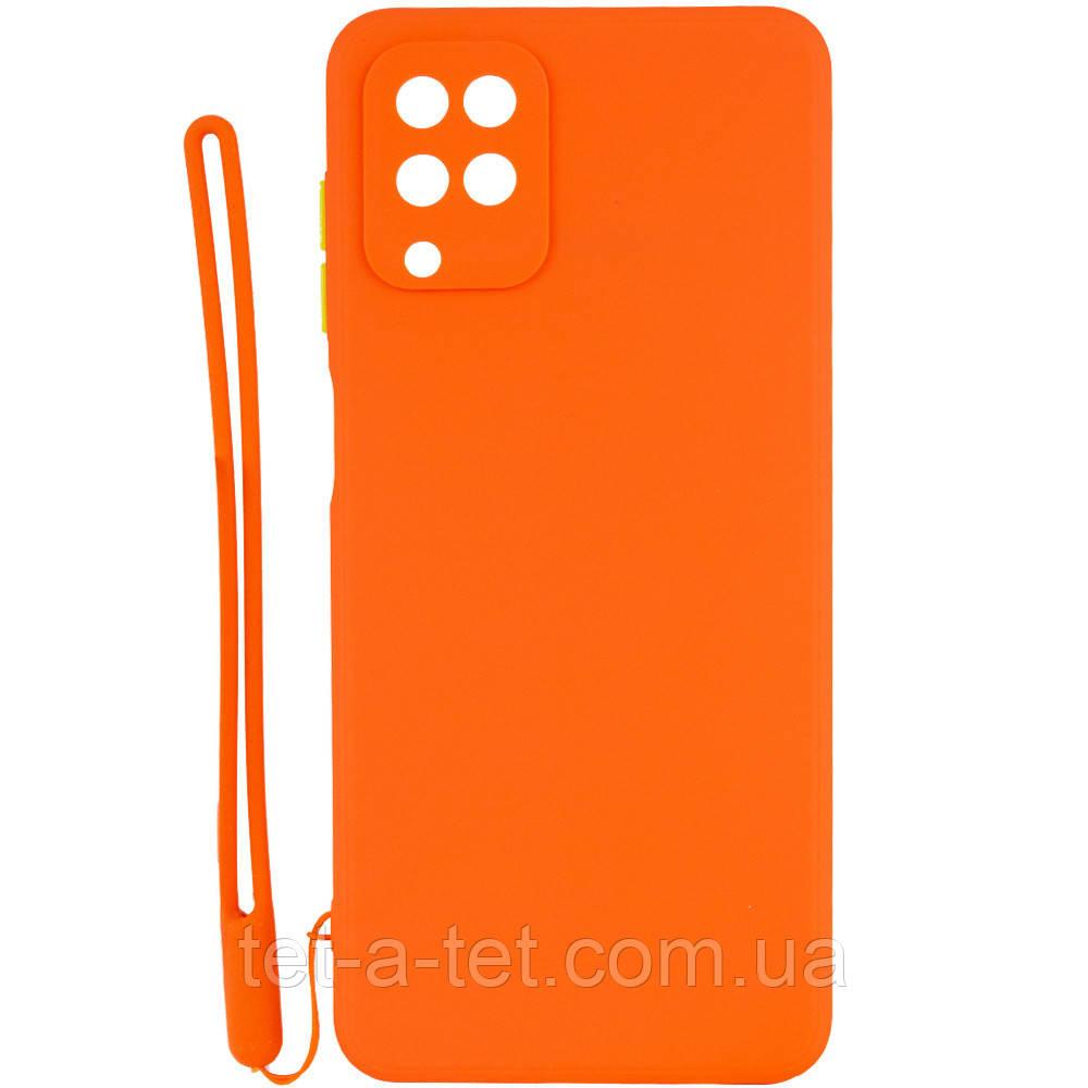 Чохол TPU Square Full Camera для Samsung Galaxy A12 Orange
