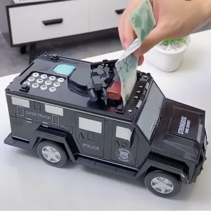 ✨ Машинка копилка сейф электронная с кодовым замком  и отпечатком пальца отличный подарок ✨