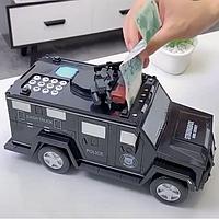 ✨ Машинка копилка сейф электронная с кодовым замком  и отпечатком пальца отличный подарок ✨, фото 1