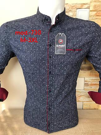 Приталенна сорочка G-Port*730 з принтом, фото 2