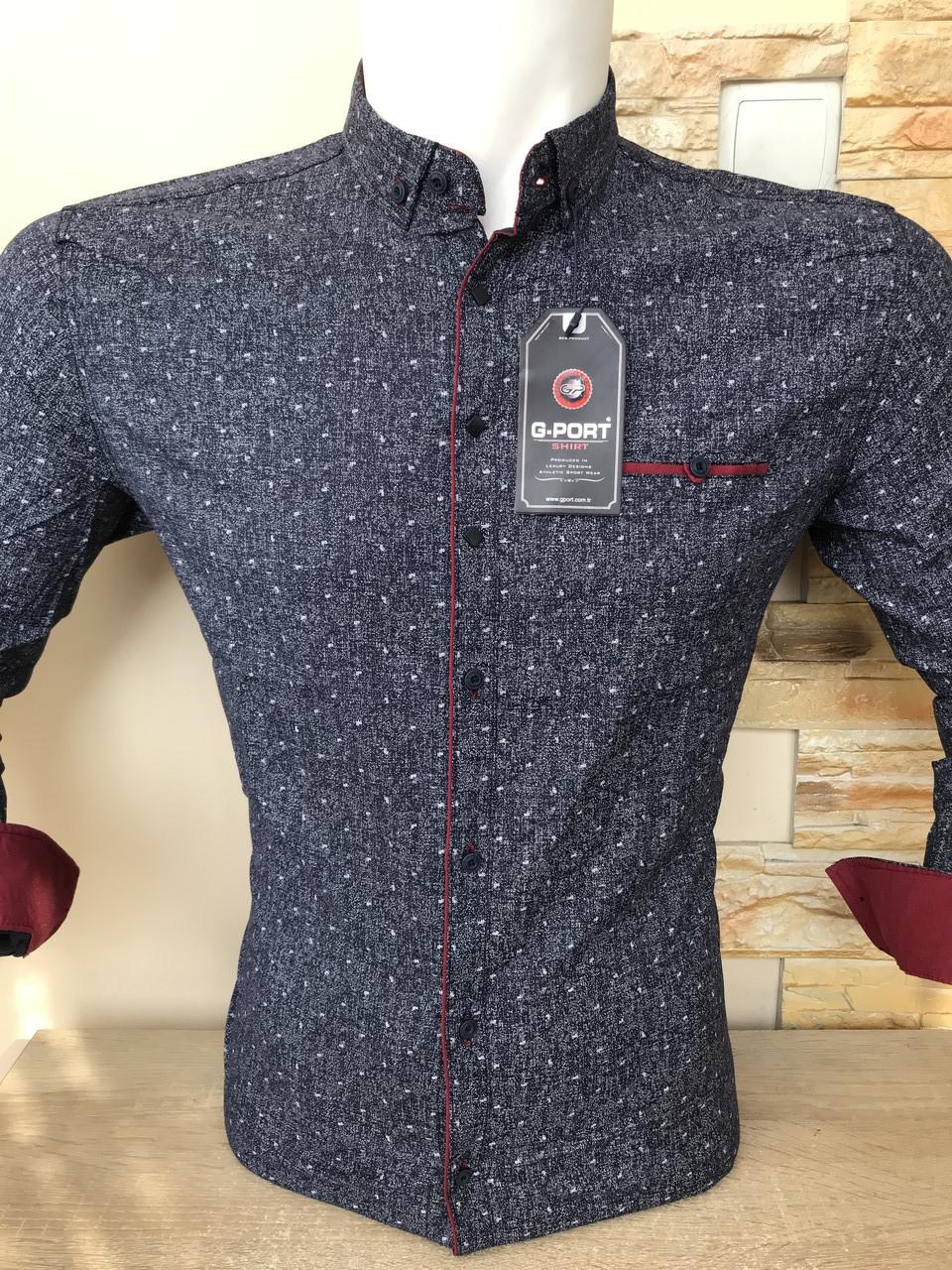 Приталенна сорочка G-Port*730 з принтом
