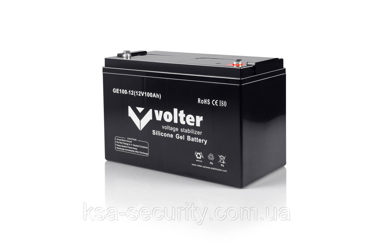 Акумуляторна батарея АКБ Volter GE 12V-H 100Ah (посилена)