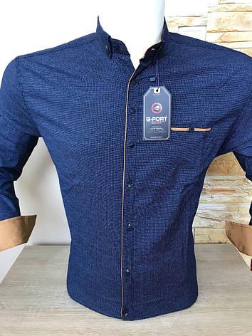 Приталена сорочка з довгим рукавом  G-Port*680 з принтом, фото 2