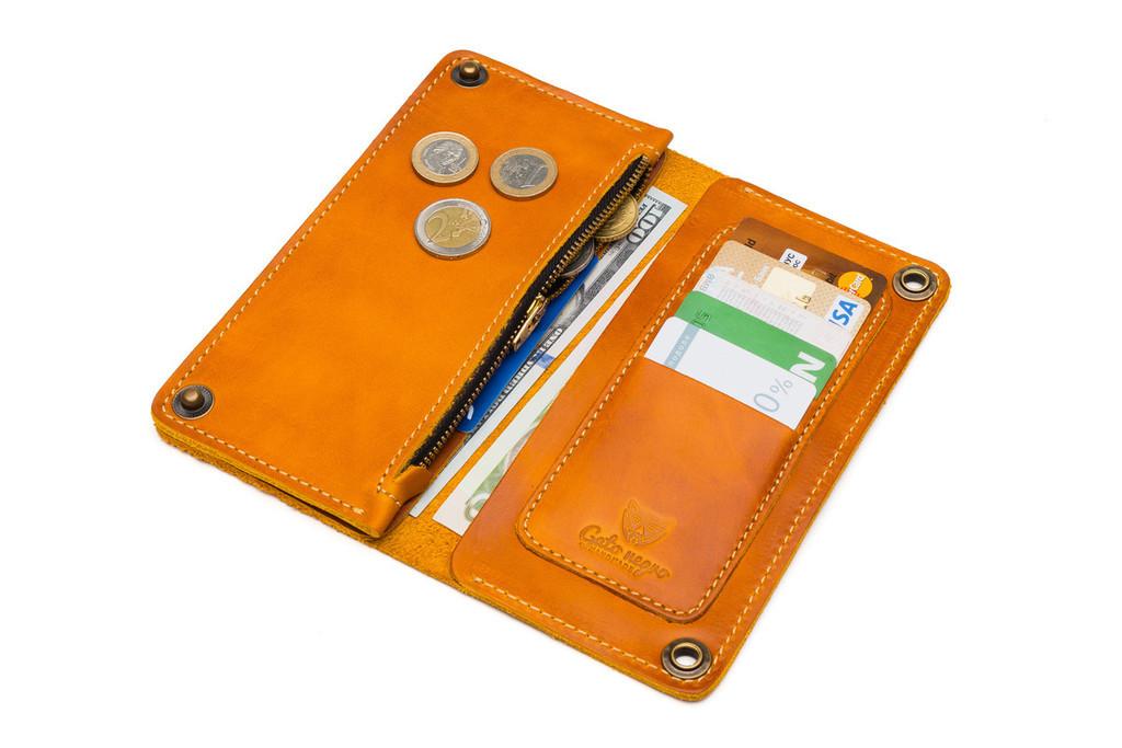 Кожаный кошелек ручной работы 18