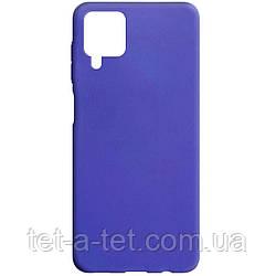 Чехол cиликоновый Candy для Samsung Galaxy A12 Purple