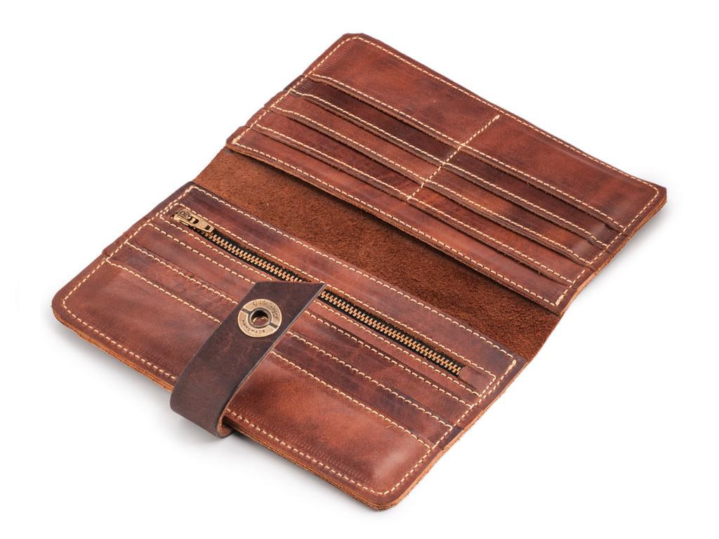 Кожаный кошелек ручной работы 37