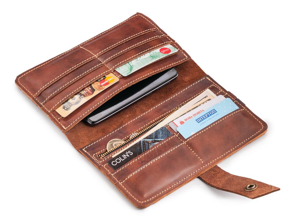 Кожаный кошелек ручной работы 38