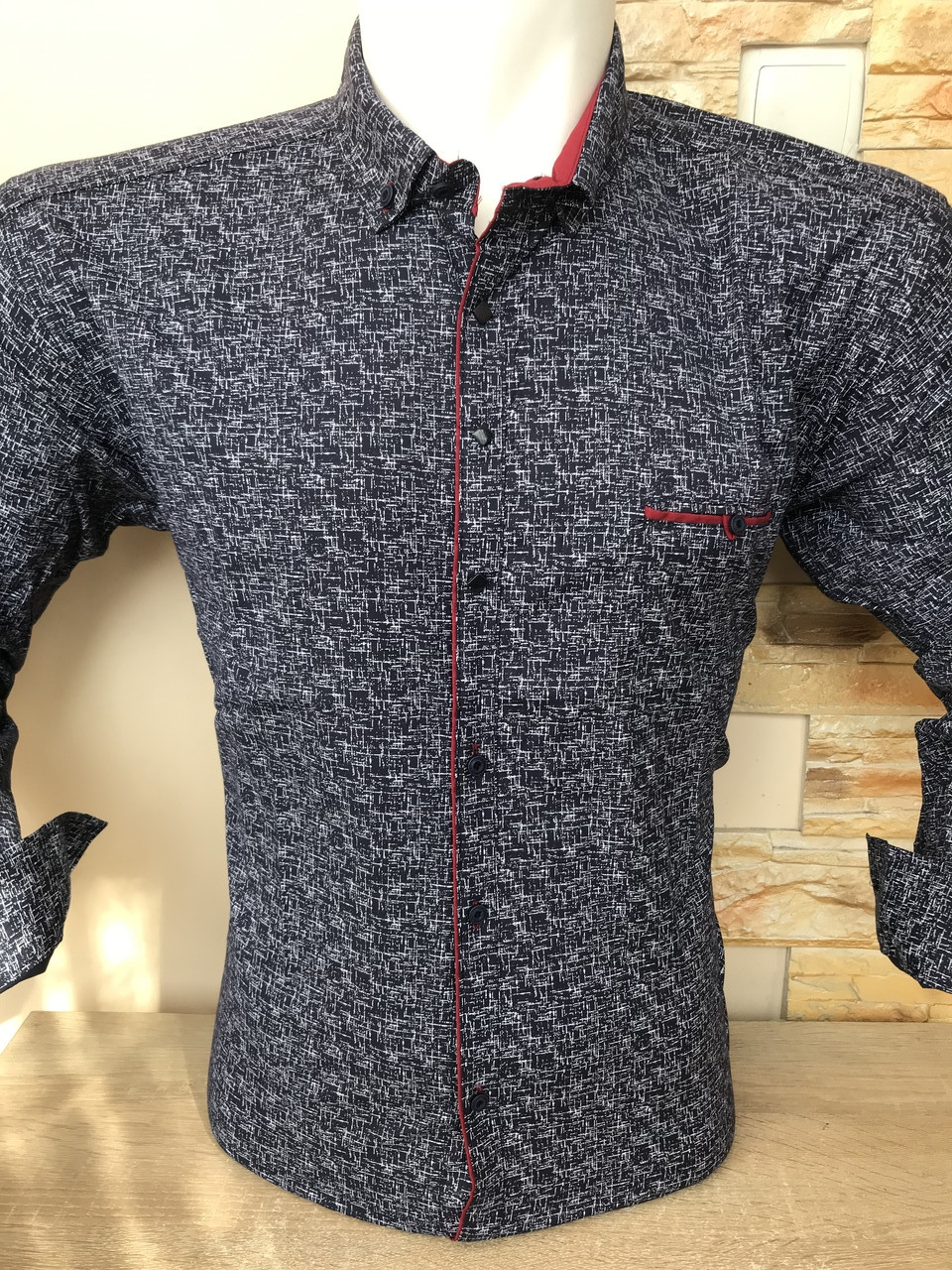 Батальна сорочка з довгим рукавом G-port з принтом -105