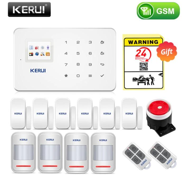Комплект бездротової gsm сигналізації Kerui G18 (комплект 8)