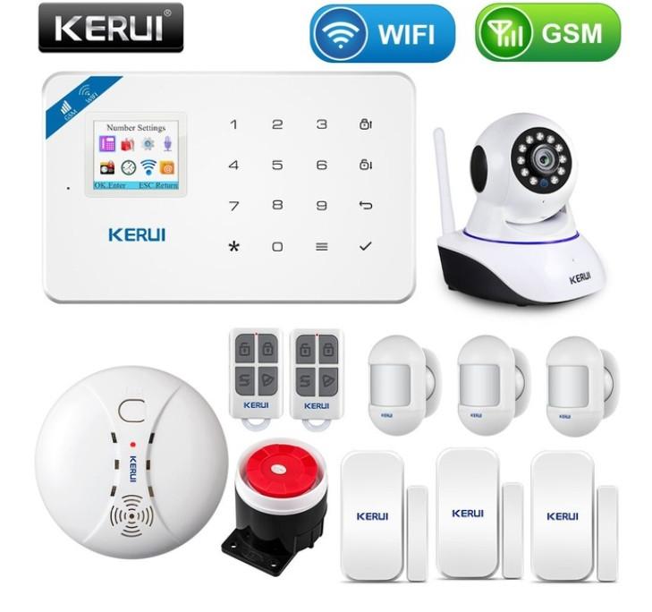 Комплект бездротової gsm сигналізації Kerui W18 (комплект 12)