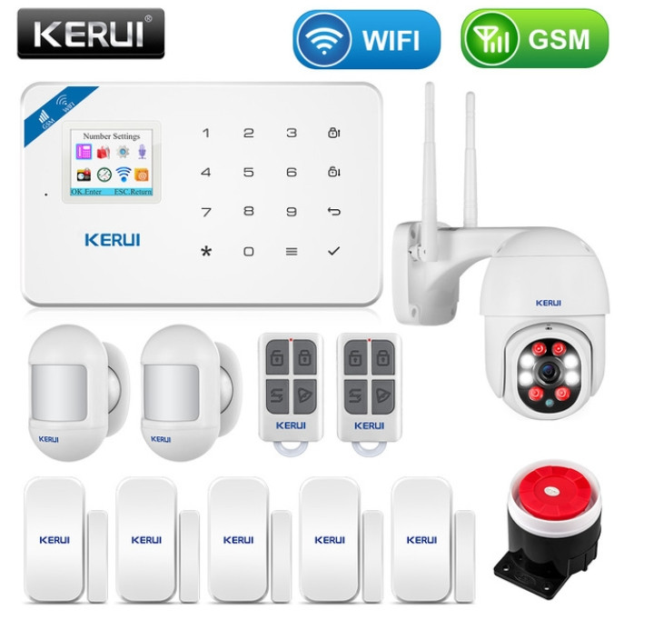 Комплект бездротової gsm сигналізації Kerui W18 (комплект 14)